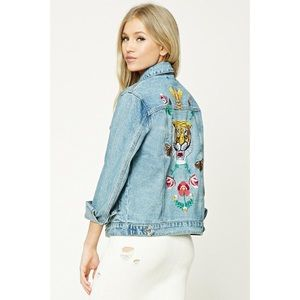 Forever 21 Tiger Embroidery Jacket